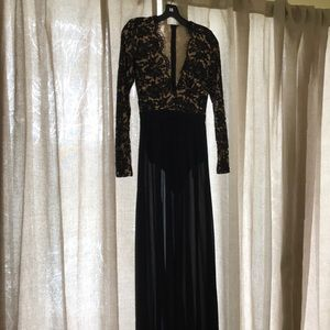 Black sheer and nude lacey dress